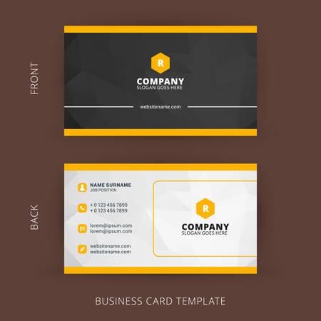 Ilustración de Creative and Clean Vector Business Card Template - Imagen libre de derechos