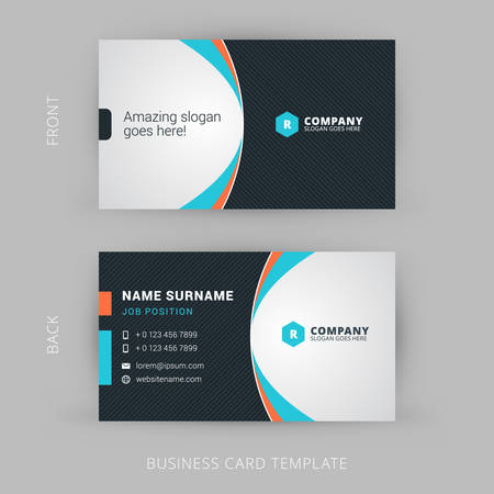 Illustration pour Creative and Clean Vector Business Card Template - image libre de droit