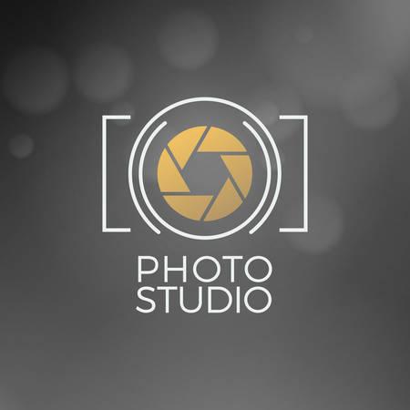 Ilustración de Photography icon Design Template. Retro Vector Badge. Photo Studio - Imagen libre de derechos