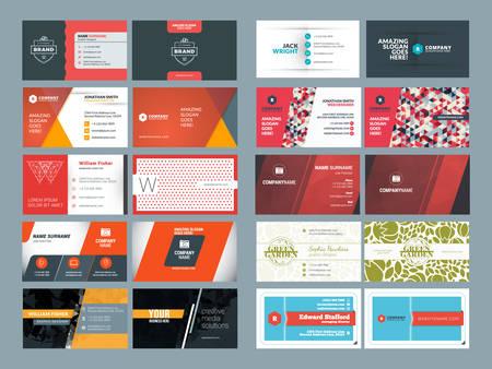 Illustration pour Set of Modern Creative and Clean Business Card Design Print Templates. Flat Style Vector Illustration - image libre de droit