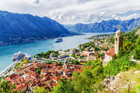 Photo for Panorama in Kotor, Montenegro - Royalty Free Image