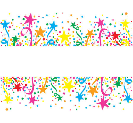 Illustration for Big colorful background stars at day - Royalty Free Image