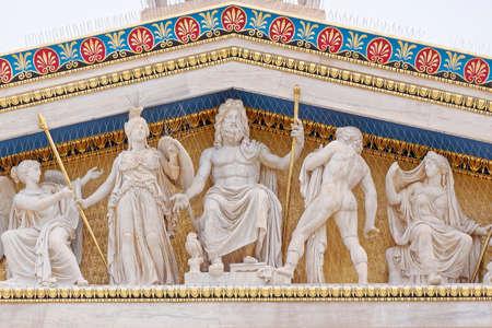 Photo pour Athens Greece, Zeus, Athena and other ancient greek gods and deities  - image libre de droit