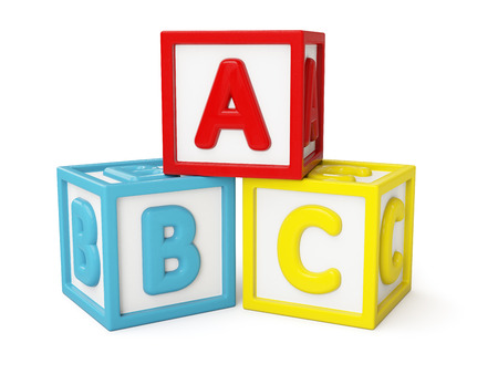 Photo for ABC building blocks isolated - Royalty Free Image