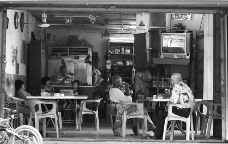 Photo for View of an old classic baba nyonya chinese restaurant at Malacca Town - Royalty Free Image