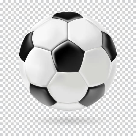 Ilustración de Vector 3d football isolated ball on transparent background. Realistic style. - Imagen libre de derechos
