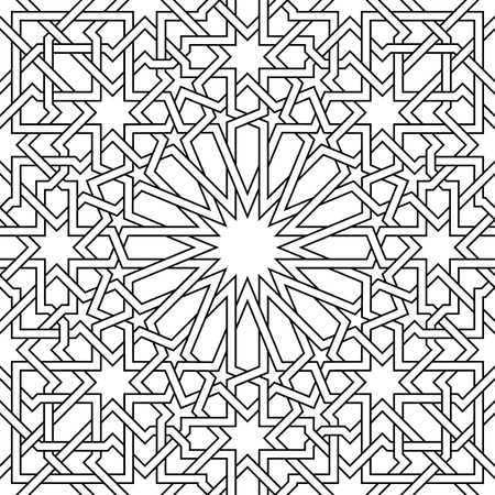 Photo for Moroccan Pattern, it?s a vector, used in architectural Design, for backgrounds, textile, texture for 3D objects and more... - Royalty Free Image