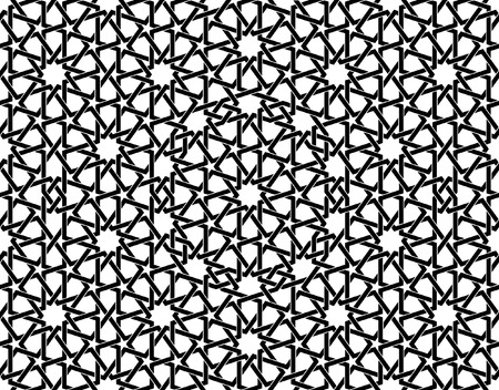Ilustración de This moroccan pattern is used in architectural design, for the funds, textile, texture for 3D objects and more ... - Imagen libre de derechos