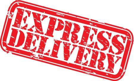 Illustration pour Grunge express delivery rubber stamp, illustration  - image libre de droit