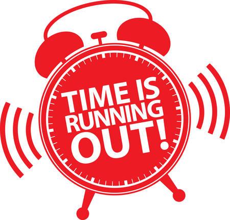 Ilustración de Time is running out alarm clock icon, vector illustration - Imagen libre de derechos