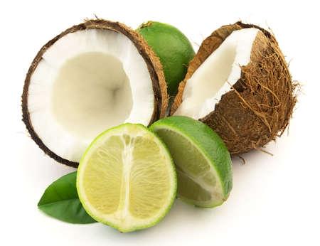 Foto de Coconut with lime - Imagen libre de derechos