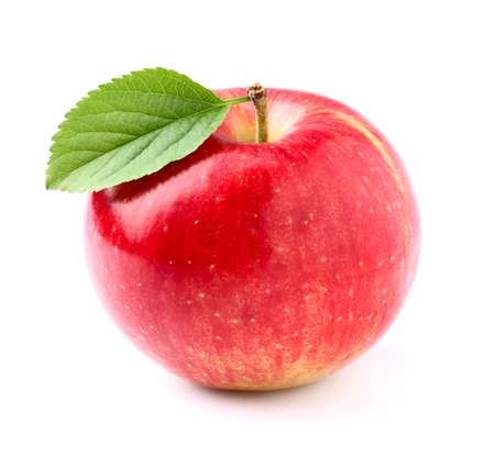 Photo for Sweet apple with leaf - Royalty Free Image