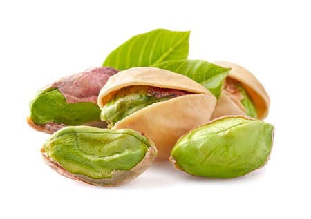 Photo for Pistachio with leaves - Royalty Free Image