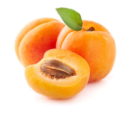 Photo for Fresh apricot fruit in closeup - Royalty Free Image