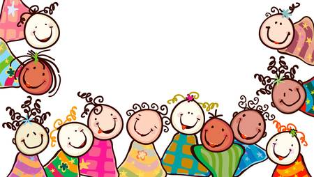 Foto per happy kids with smiling faces - Immagine Royalty Free