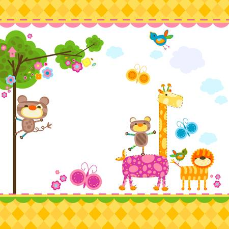 cute animals background for cards
