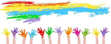 Ilustración de colorful hands  - Imagen libre de derechos