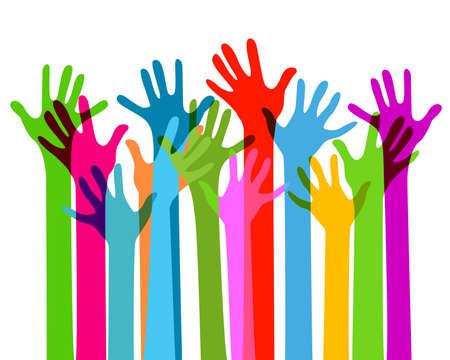 Ilustración de hands together, no transparency - Imagen libre de derechos