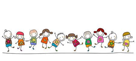 Illustration pour happy kids playing - image libre de droit