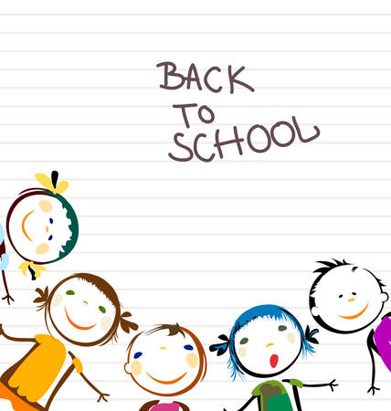 Photo pour happy kids back to school - image libre de droit