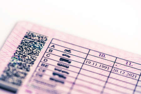 Photo for the driver-license; categories - Royalty Free Image