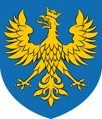 Illustration for Coat of arms of Opole Voivodeship or Opole Province in Poland. Vector illustration from Giovanni Santi-Mazzini Heraldic 2003 - Royalty Free Image