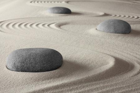Photo pour spiritual meditation zen garden concept for relaxation concentration harmony balance and simplicity holistic tao buddhism or spa treatment - image libre de droit