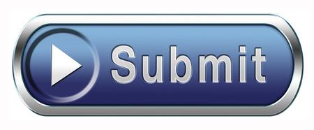 Foto de Submit button or icon for submitting data file or document - Imagen libre de derechos