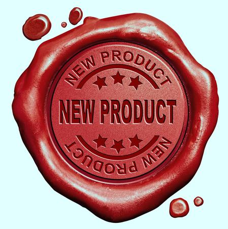 Photo pour new product launch latest release promotion red wax seal stamp button - image libre de droit