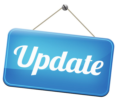 Foto de Update  updating software now and here to the latest newest version or new edition - Imagen libre de derechos