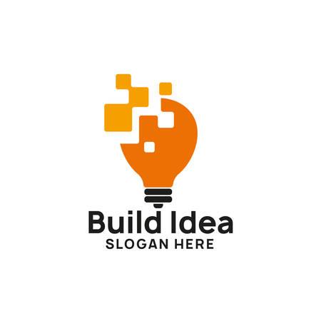 Illustration pour creative idea logo design template. bulb icon symbol designs - image libre de droit