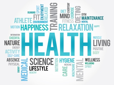 Photo pour HEALTH word cloud concept - image libre de droit
