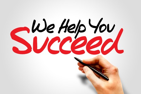 Photo for Hand writing We Help You Succeed, business concept - Royalty Free Image