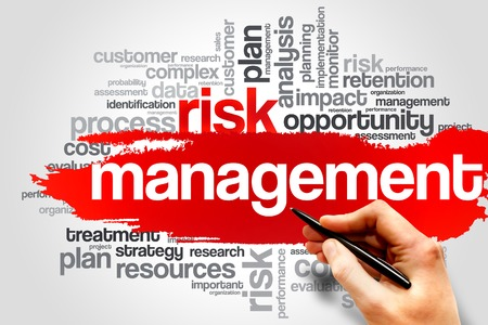 Photo pour Risk Management word cloud, business concept - image libre de droit