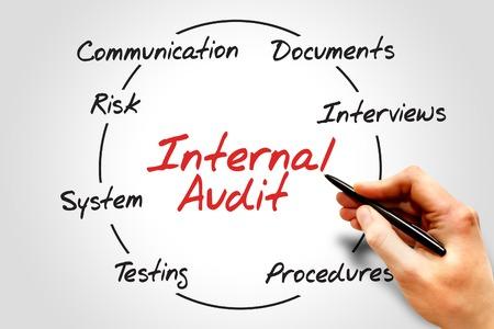 Foto de Internal Audit process circle, business concept - Imagen libre de derechos