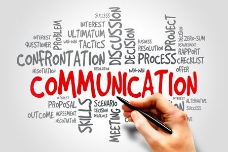 Foto de Communication related items words cloud, business concept - Imagen libre de derechos