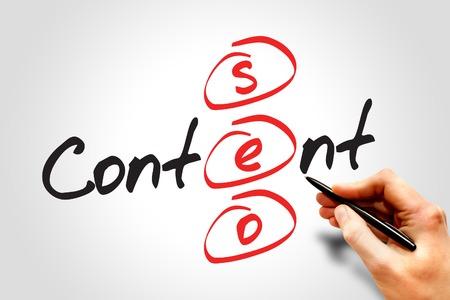 Foto de Content SEO (Search Engine Optimization) acronym, business concept - Imagen libre de derechos