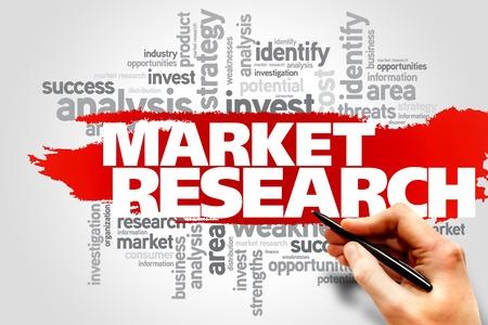 Foto de Market research word cloud, business concept - Imagen libre de derechos