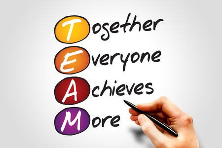 Photo pour Together Everyone Achieves More (TEAM), business concept acronym - image libre de droit