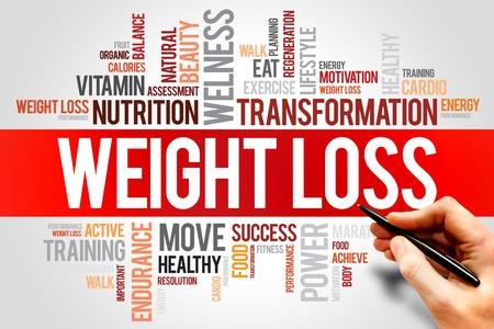 Foto de WEIGHT LOSS word cloud, fitness, sport, health concept - Imagen libre de derechos