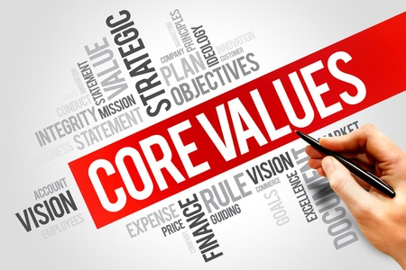 Photo for Core values word cloud, business concept - Royalty Free Image