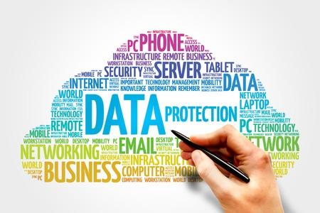 Photo pour Data protection word cloud concept - image libre de droit