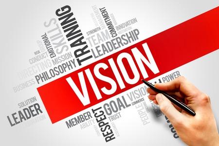 Foto de VISION word cloud, business concept - Imagen libre de derechos