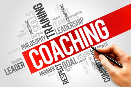 Photo for COACHING word cloud, business concept - Royalty Free Image