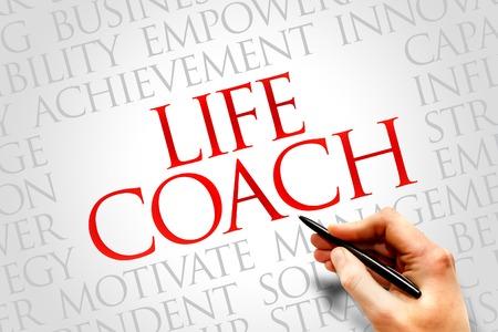 Foto de Life Coach word cloud, business concept - Imagen libre de derechos
