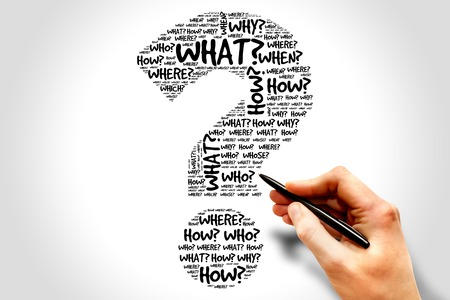 Foto de Question mark, Question words concept - Imagen libre de derechos