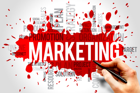 Foto de Marketing word cloud, business concept - Imagen libre de derechos