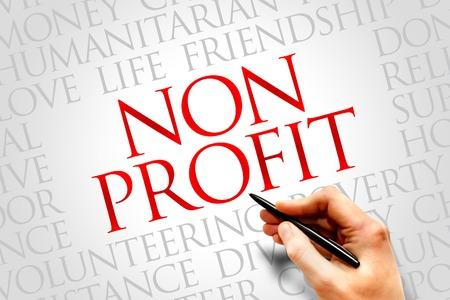 Photo pour Non Profit word cloud concept - image libre de droit