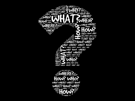Illustration pour Question mark, Question words vector concept - image libre de droit