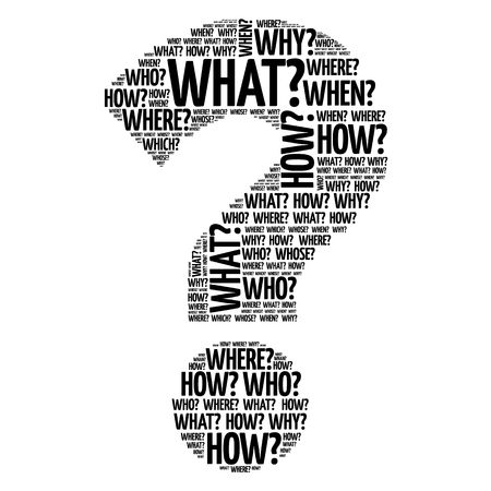 Illustration pour Question mark, Question words concept - image libre de droit